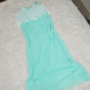 NWT Charming Charlie sheer mint strappy maxi dress
